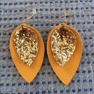 Leather Earrings NWT